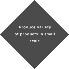 Produce variety of products in small scale